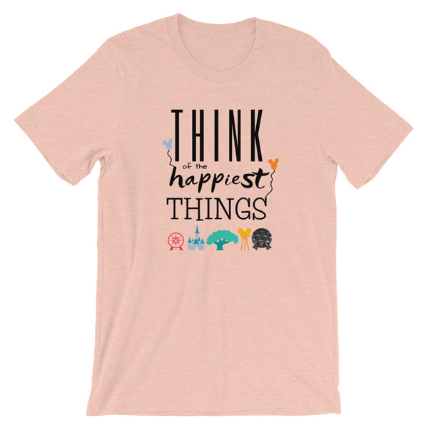 Think Disney Vacation Happiest Things Short-Sleeve Unisex T-Shirt