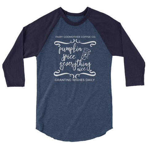 Cinderella Raglan Fairy Godmother Coffee Company Disney Shirt