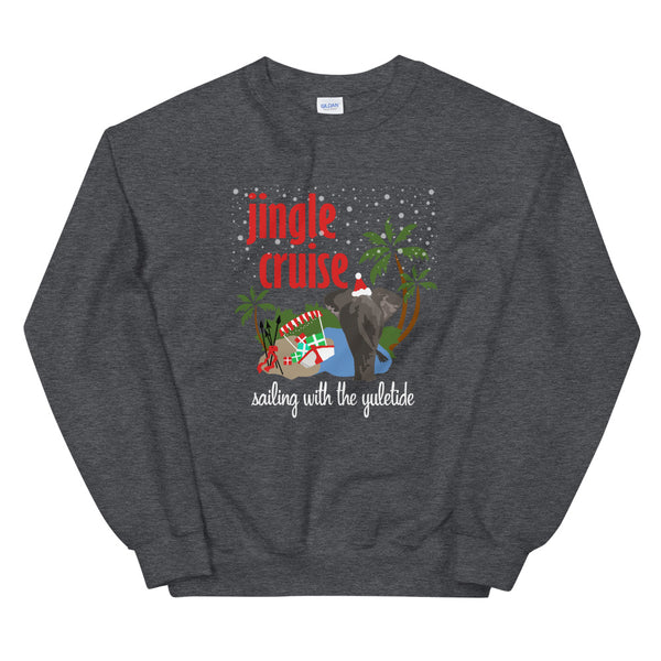 Jingle Cruise Elephant Sweatshirt Disney Christmas Jungle Cruise Crew Neck Sweatshirt