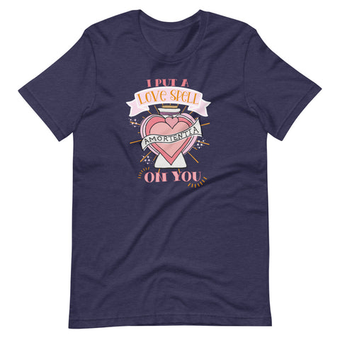 Love Potion Wizarding World Potions and Spells Valentine's Day Short-Sleeve Unisex T-Shirt