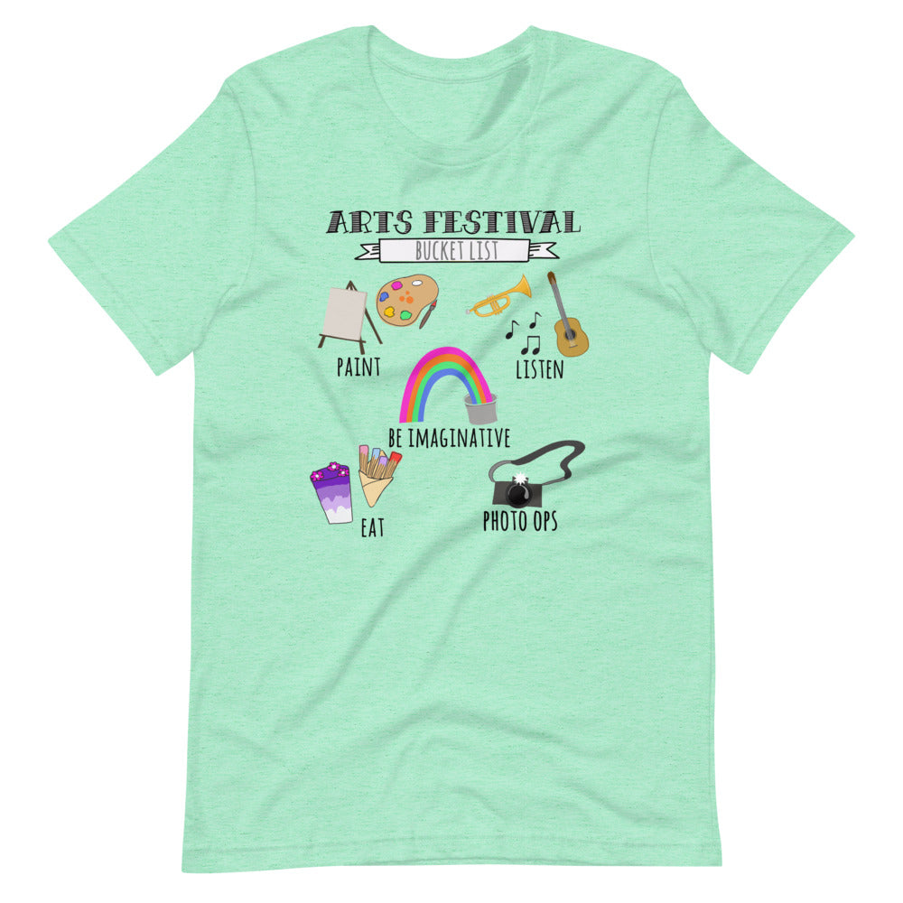 Epcot Festival of the Arts Bucket List Painting Short-Sleeve Unisex T-Shirt