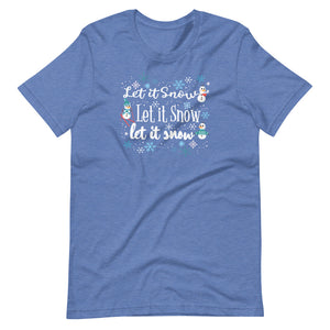 Frozen Let it Snow T-Shirt Olaf Winter Snow Activities Adult Frozen T-Shirt