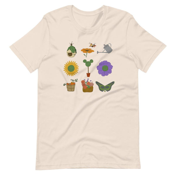 Mickey Topiary T-Shirt READY TO SHIP Flower and Garden Festival T-Shirt- SOFT CREAM- SMALL