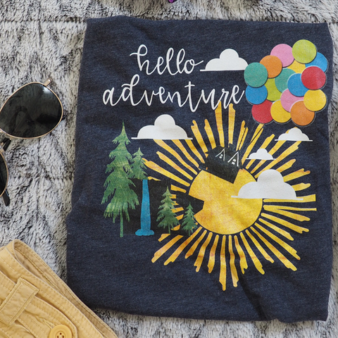Up Hello Adventure T-Shirt Short-Sleeve Unisex T-Shirt