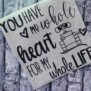 Wall-E T-shirts, Wall-E and Eva T-shirt,  Whole Heart Disney Couple Shirts Unisex T-Shirt