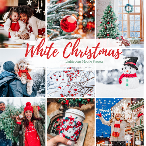 5 of Mobile Lightroom Presets, White Christmas Lightroom Mobile Instagram Presets  Lifestyle presets Travel Photography Presets