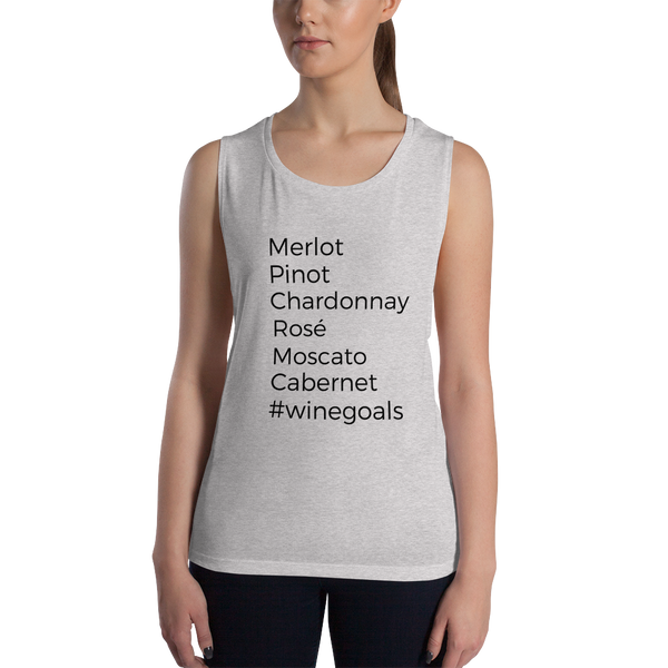 Wine Lovers Muscle Tank Top #WineGoals