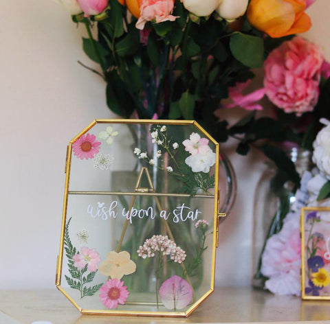 Pressed Flower Disney Quote Wish Upon a Star Frame