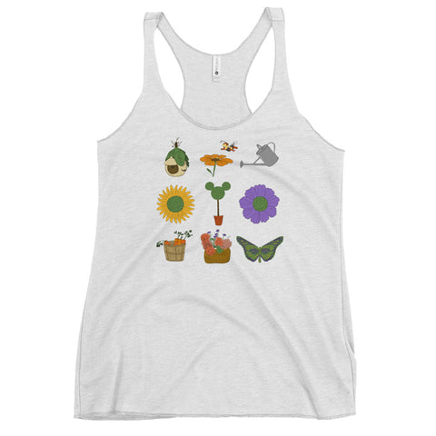 Mickey Topiary Flower and Garden Festival Women's Racerback Tank