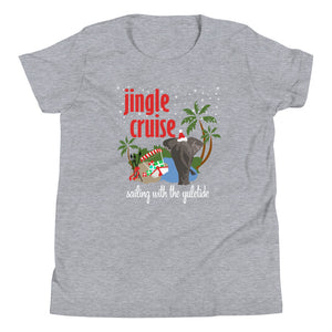 Jingle Cruise Elephant Kids T-Shirt Disney Christmas Jungle Cruise Christmas Kids T-Shirt
