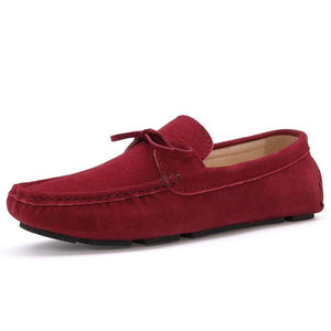 EOFK Men`s Suede Moccasin-Taystee Shoes