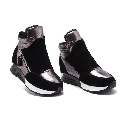 Women's Stretch Wedge Sneakers