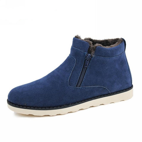 JINTOHO Big Size Men Shoes 2016 Top Fashion New Winter Casual Ankle Boots Warm Winter Fur Shoes Leather Footwear-Taystee Shoes