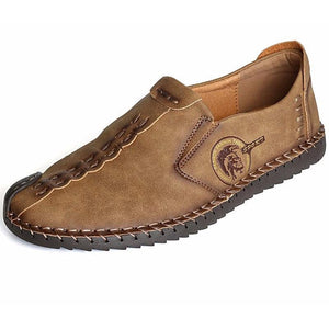 Mens Quality Split Leather Moccasins-Taystee Shoes