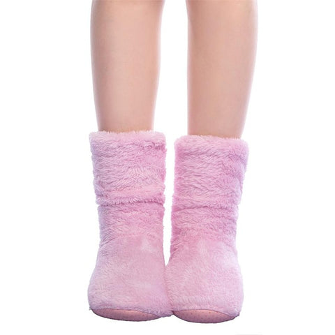 FRALOSHA Dropshipping & Wholesale Women Plush Home shoe Coral Fleece Indoor Floor Sock Winter Foot Warmer Soft bottom slippers-Taystee Shoes