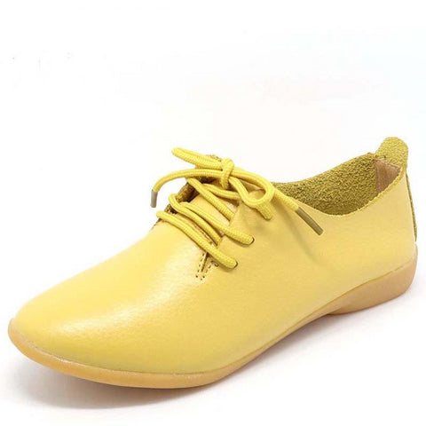 Women`s Round Toe Oxford Shoes