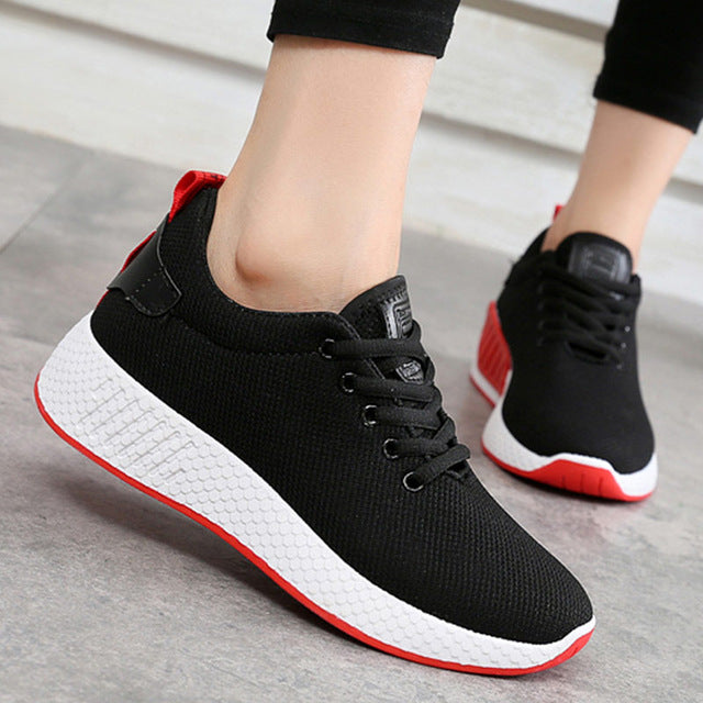 0641e3519882 ... Comfortable women sneakers air mesh spring autumn shoes solid black white pink  female ...