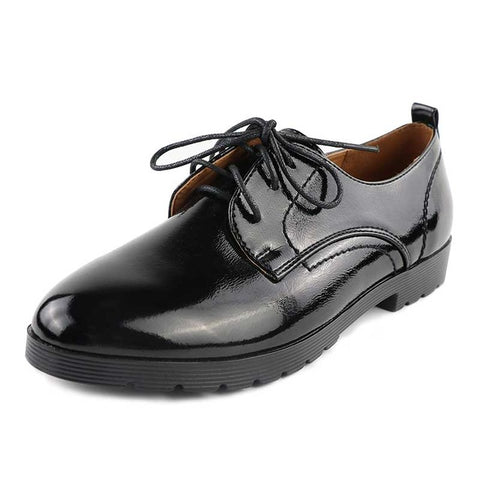 Women`s soft leather oxfords