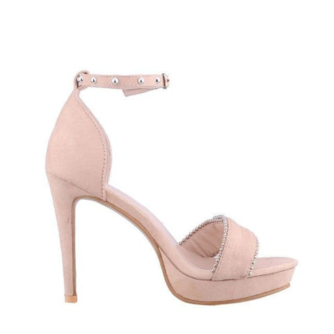 Flashy Thin Heel Sandal
