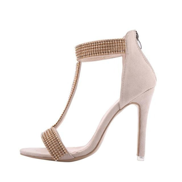Strappy Embellished Evening Sandal