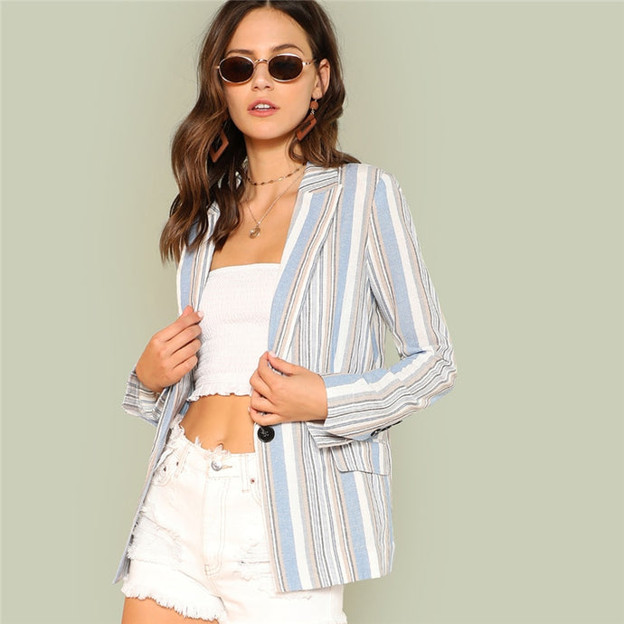 Blue Pin Stripe Blazer