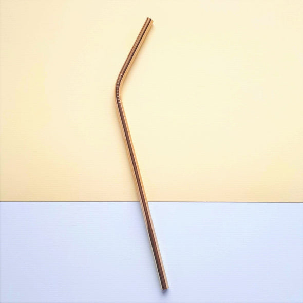 Gold Steel Straw - Angled - Oak Lane
