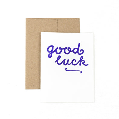 Good Luck - Blue - Oak Lane