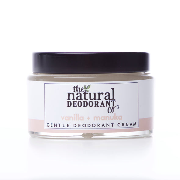 Gentle Deodorant Cream Vanilla + Manuka 55g - Oak Lane