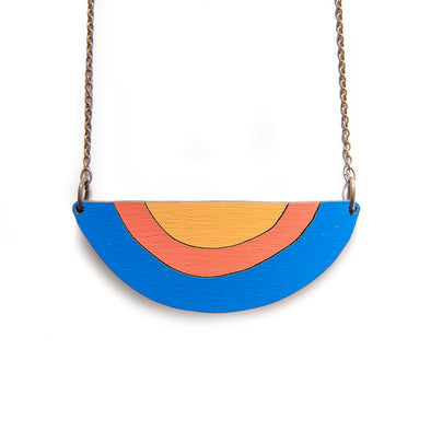 The Snake Charmer Necklace - yellow - Oak Lane