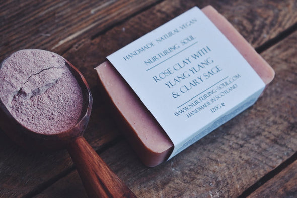 Rose Clay with Ylang Ylang & Clary Sage Soap - Oak Lane