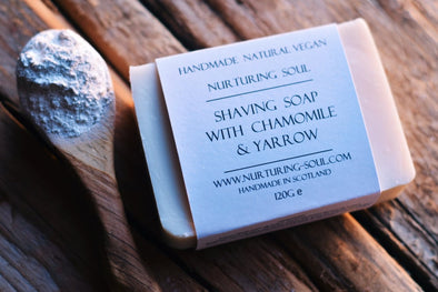 Shaving Soap Bar with Chamomile and Yarrow - Oak Lane
