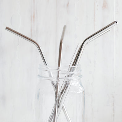 Stainless Steel Straw - Angled - Oak Lane
