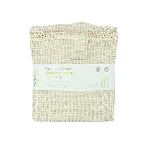 Organic Cotton Mesh Produce Bag - Large - Oak Lane
