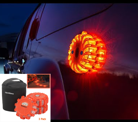 3 PK LED Road Safety Magnetic Flare