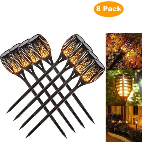 Image of Waterproof Flickering Flames Torches Lights Outdoor Solar Spotlights