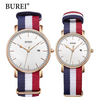 burei watch, burei watch tricolor strap, burei watch canvas strap