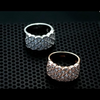 diamond encrusted ring rose gold silver