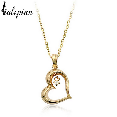 diamond heart pendant gold necklace