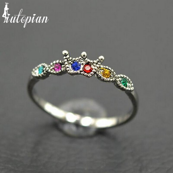 Elegant Vintage Crown Iutopia Ring