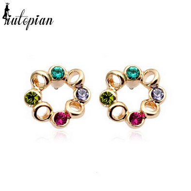 flower multi colored gemstone gold ring