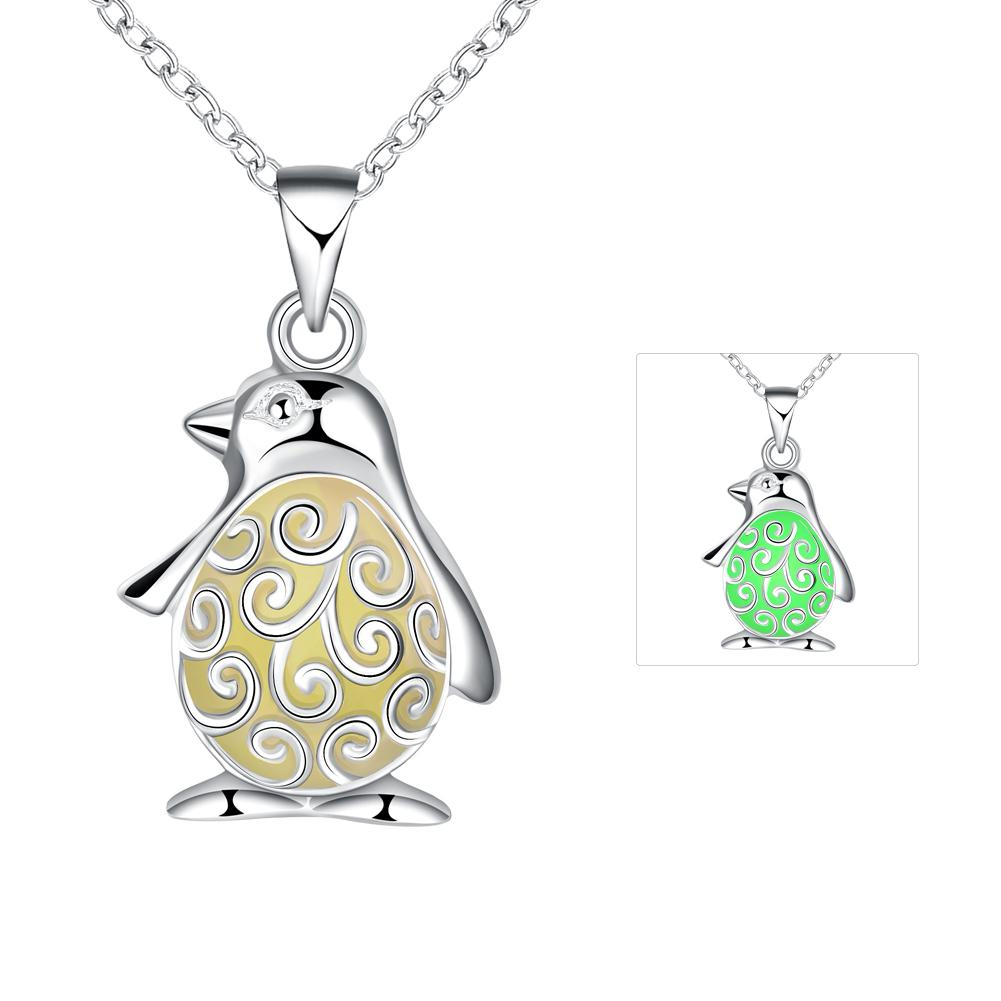 Glow in the dark necklace penguin pendant iutopia glow in the dark necklace penguin pendant aloadofball Images