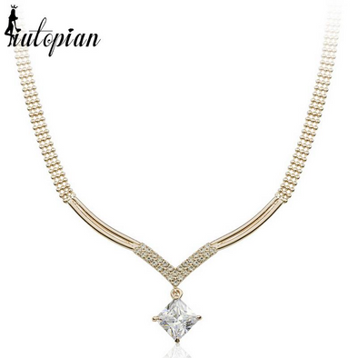 luxury diamond gold necklace choker with stones