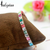 multi colored gemstone rose gold bracelet bangle
