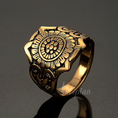Chinese antique gold ring