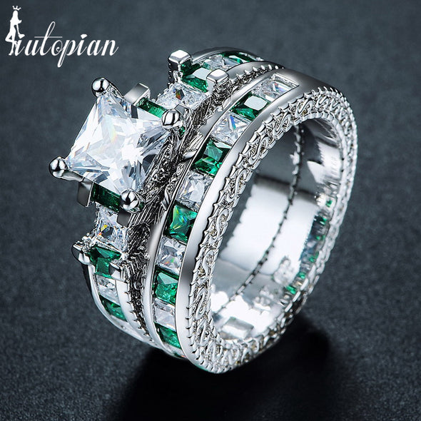 Sets Rings for Women with Cubic Zirconia