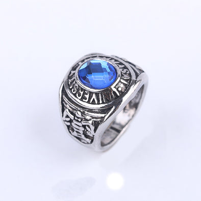 Blue stone Eye of zircon Fashion