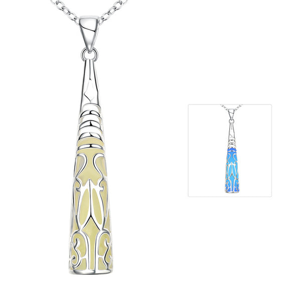 Glow in the Dark Necklace Cone Pendant