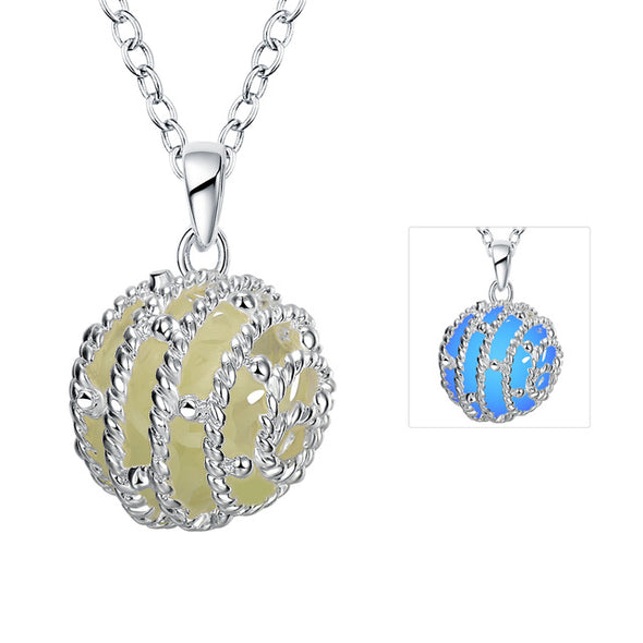 Glow in the Dark Necklace Ball Pendant