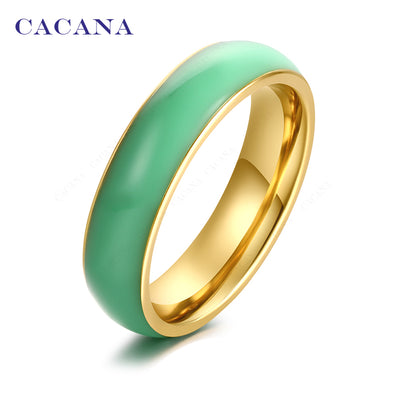 Iutopia Titanium Stainless Steel Rings For Women Bright Ceramics