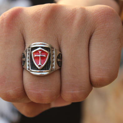 The Red Cross Punk Ring